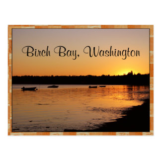 Birch Bay Sunset Postcard