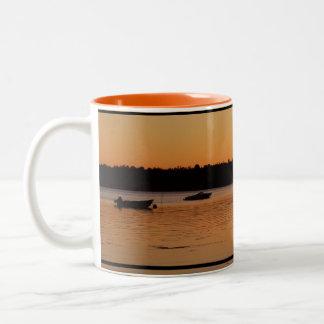 Birch Bay Sunset Two-Tone Coffee Mug
