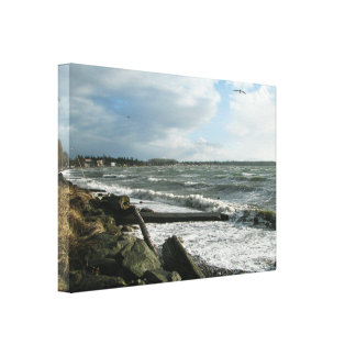 Birch Bay Wind Storm Stretched Canvas Prints