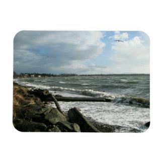 Birch Bay Wind Storm Rectangular Photo Magnet