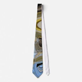 Birch Catkins Against a Winter Sky Abstract Tie