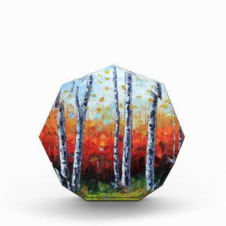 Birch Dream, Palette Knife Painting in oil Award