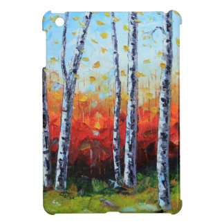 Birch Dream, Palette Knife Painting in oil Case For The iPad Mini