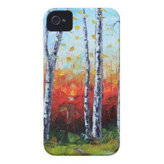 Birch Dream, Palette Knife Painting in oil iPhone 4 Covers