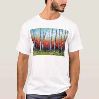 Birch Dream, Palette Knife Painting in oil T-Shirt