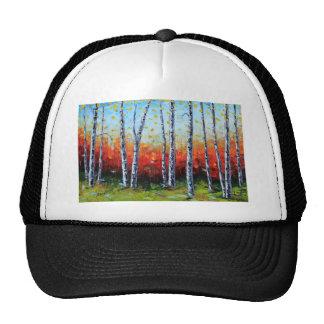 Birch Dream, Palette Knife Painting in oil Trucker Hat