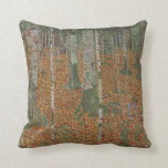 Birch Forest and Beech Forest by Gustav Klimt Throw Pillows