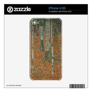 Birch Forest by Gustav Klimt Decal For iPhone 4