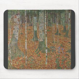 Birch Forest by Gustav Klimt Mouse Pad