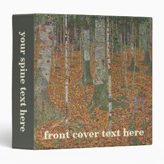 Birch Forest by Gustav Klimt, Vintage Art Nouveau 3 Ring Binder