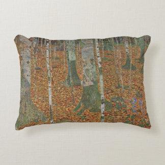 Birch Forest by Gustav Klimt, Vintage Art Nouveau Accent Pillow