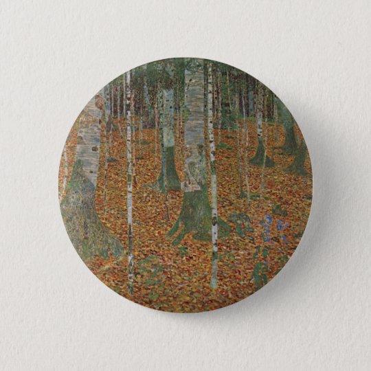 Birch Forest by Gustav Klimt, Vintage Art Nouveau Button