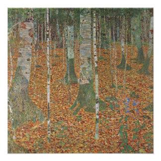 Birch Forest by Gustav Klimt Vintage Art Nouveau Personalized Invitations
