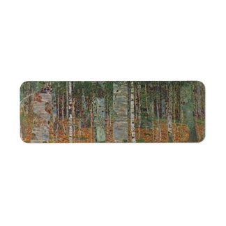 Birch Forest by Gustav Klimt, Vintage Art Nouveau Label