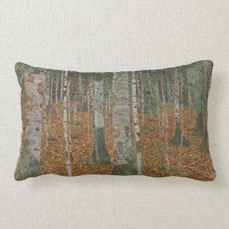 Birch Forest by Gustav Klimt, Vintage Art Nouveau Lumbar Pillow