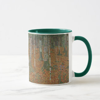 Birch Forest by Gustav Klimt, Vintage Art Nouveau Mug