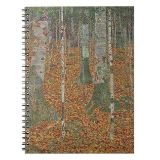 Birch Forest by Gustav Klimt, Vintage Art Nouveau Notebook