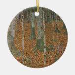 Birch Forest by Gustav Klimt, Vintage Art Nouveau Christmas Tree Ornament