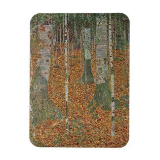 Birch Forest by Gustav Klimt, Vintage Art Nouveau Rectangular Photo Magnet