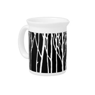 Birch Forest by Leslie Peppers Beverage Pitcher