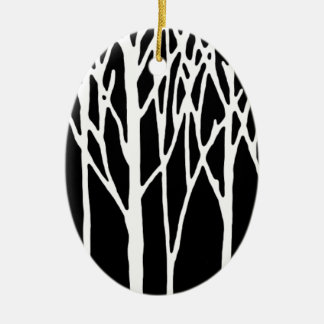 Birch Forest by Leslie Peppers Ceramic Ornament