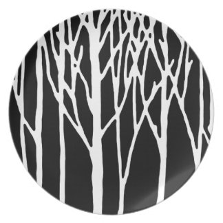 Birch Forest by Leslie Peppers Dinner Plate