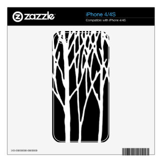 Birch Forest by Leslie Peppers Skins For iPhone 4