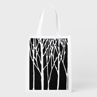 Birch Forest by Leslie Peppers Grocery Bags