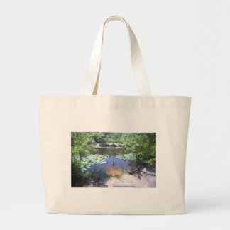 Birch Grove Park - Take a Gander at These Geese ! Large Tote Bag
