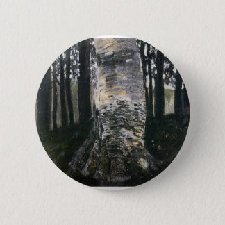 Birch in a Forest Button