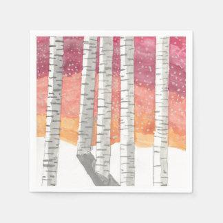 Birch In The Snow Paper Napkin