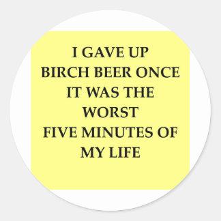 BIRCH.jpg Classic Round Sticker