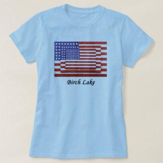 Birch Lake 3 flags fancy T-Shirt