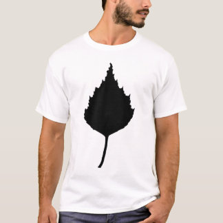 Birch leaf silhouette art T-Shirt