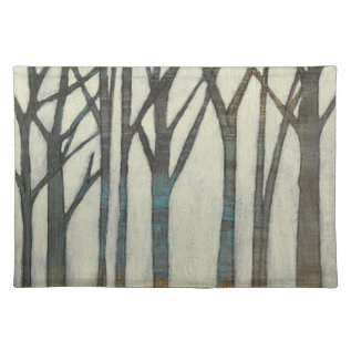 Birch Line I Cloth Placemat at Zazzle