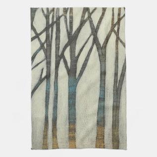Birch Line I Kitchen Towel at Zazzle