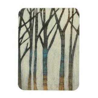 Birch Line I Rectangular Photo Magnet