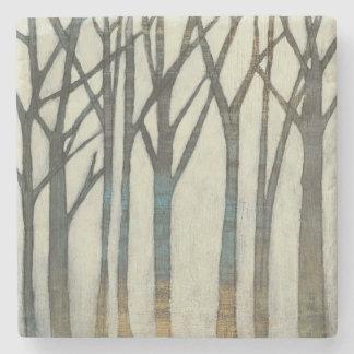 Birch Line I Stone Coaster