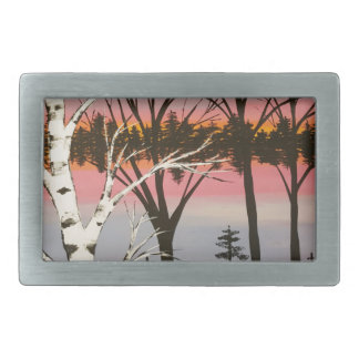 Birch Sunset Belt Buckle