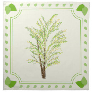 Birch Tree and Leaves Napkins