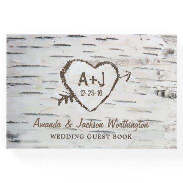 rusticweddings Birch Tree Bark Country Rustic Wedding Guest Book