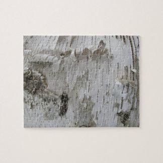 Birch Tree Bark Peeled Old Photo Art Jigsaw Puzzle