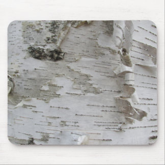Birch Tree Bark Peeled Old Photo Art Mouse Pad