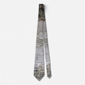 Birch Tree Bark Peeled Old Photo Art Neck Tie