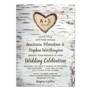 Country Wedding Invitations Announcements Zazzle