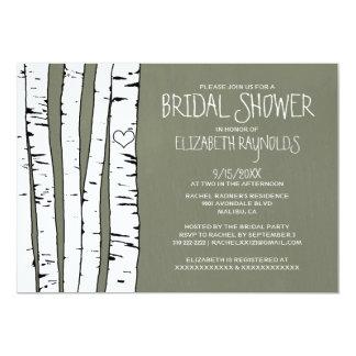 Birch Tree Bridal Shower Invitations Card