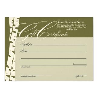 Birch Tree Gift Certificates Card