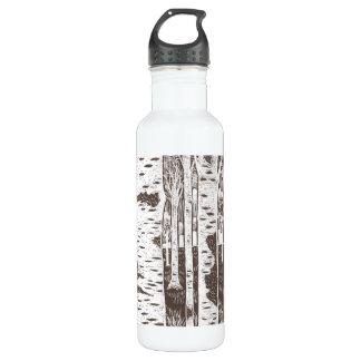 Birch Tree Illustration Stainless Steel Water Bottle