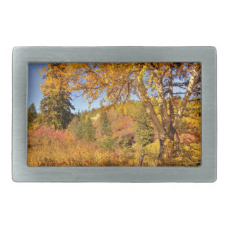 Birch Tree in Autumn Rectangular Belt Buckle