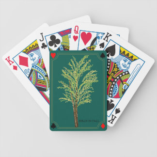 Birch Tree in Fall Playing Cards